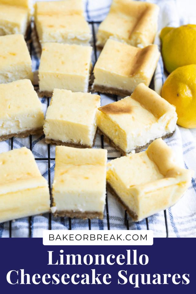Limoncello Cheesecake Squares bakeorbreak.com