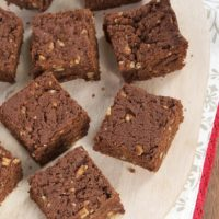 These rich, chewy brownies are so simple to make with only 5 ingredients!