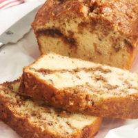 sliced Cinnamon Swirl Bread on parchment paper