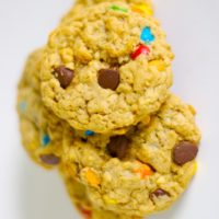 Monster Cookies are big, chewy cookies packed with all kind of good stuff. These are irresistible! - Bake or Break