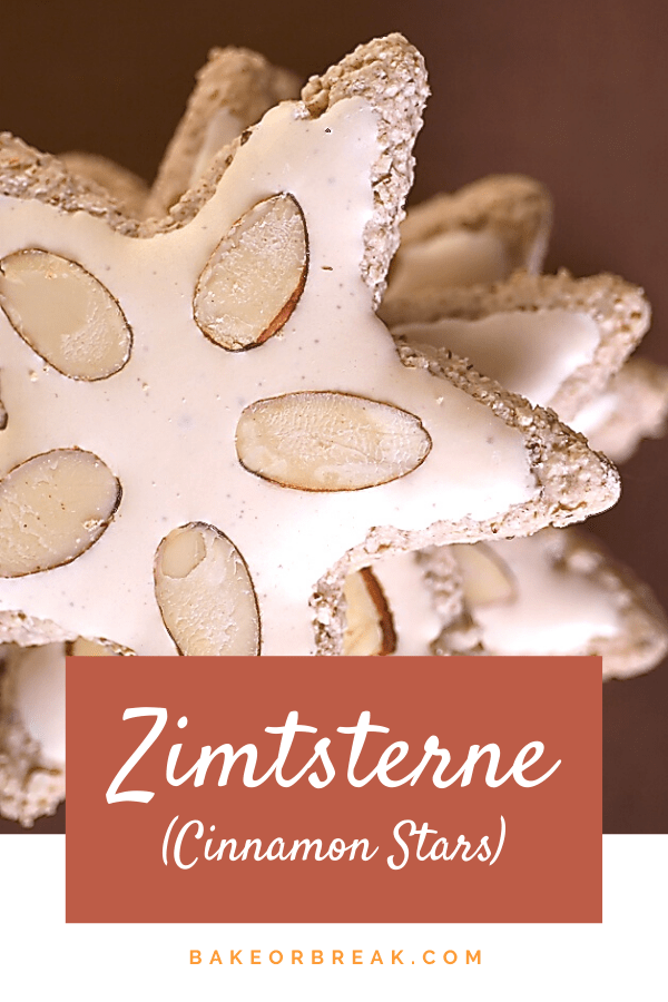 Zimtsterne (Cinnamon Stars) are delicious German Christmas cookies that exist somewhere between a macaroon and a meringue. - Bake or Break #cookies #zimtsterne #christmascookies