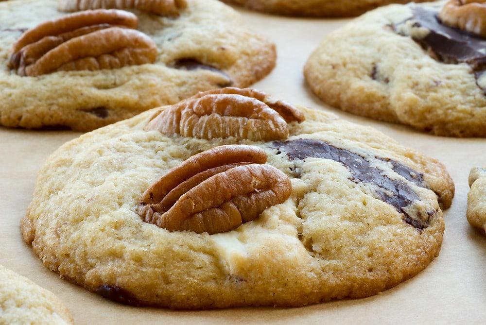 Triple Chocolate Pecan Cookies