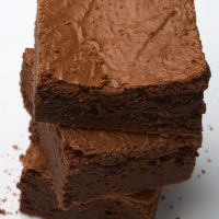 stack of Double Chocolate Brownies