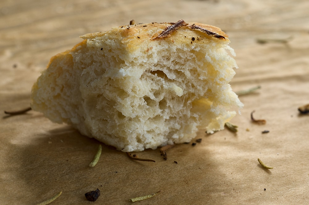 Focaccia with Onion and Rosemary is the perfect companion to a hearty meal. Topped with onion, rosemary, salt, and pepper, it's so full of amazing flavor! - Bake or Break