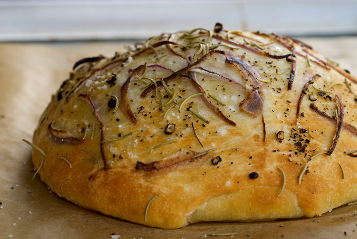 Focaccia with Onion and Rosemary