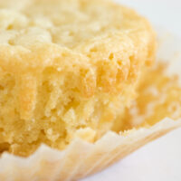 close up of a White Chocolate Chip Blondie