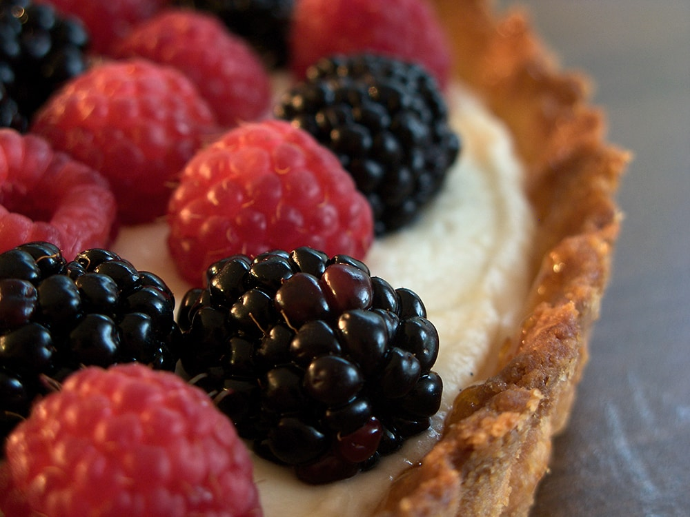 Turn fresh berries into a sweet, beautiful dessert with this Fresh Berry Tart. - Bake or Break