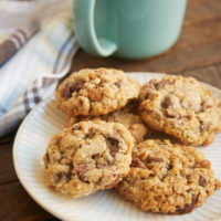 Favorite Chocolate Chip Cookies served on a plate