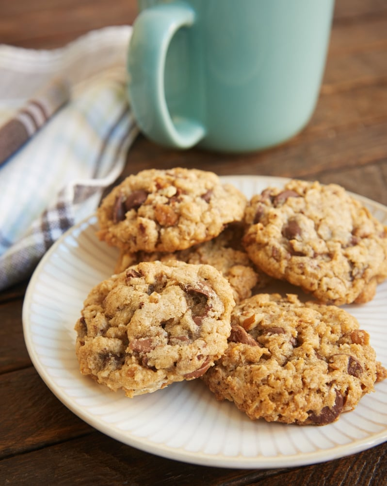 My Favorite Chocolate Chip Cookies served on a plate