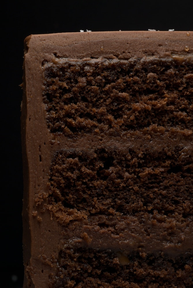 Sweet and Salty Cake is a rich, delicious chocolate cake with salted caramel, chocolate-caramel frosting, and a sprinkling of salt. Absolutely delicious! - Bake or Break