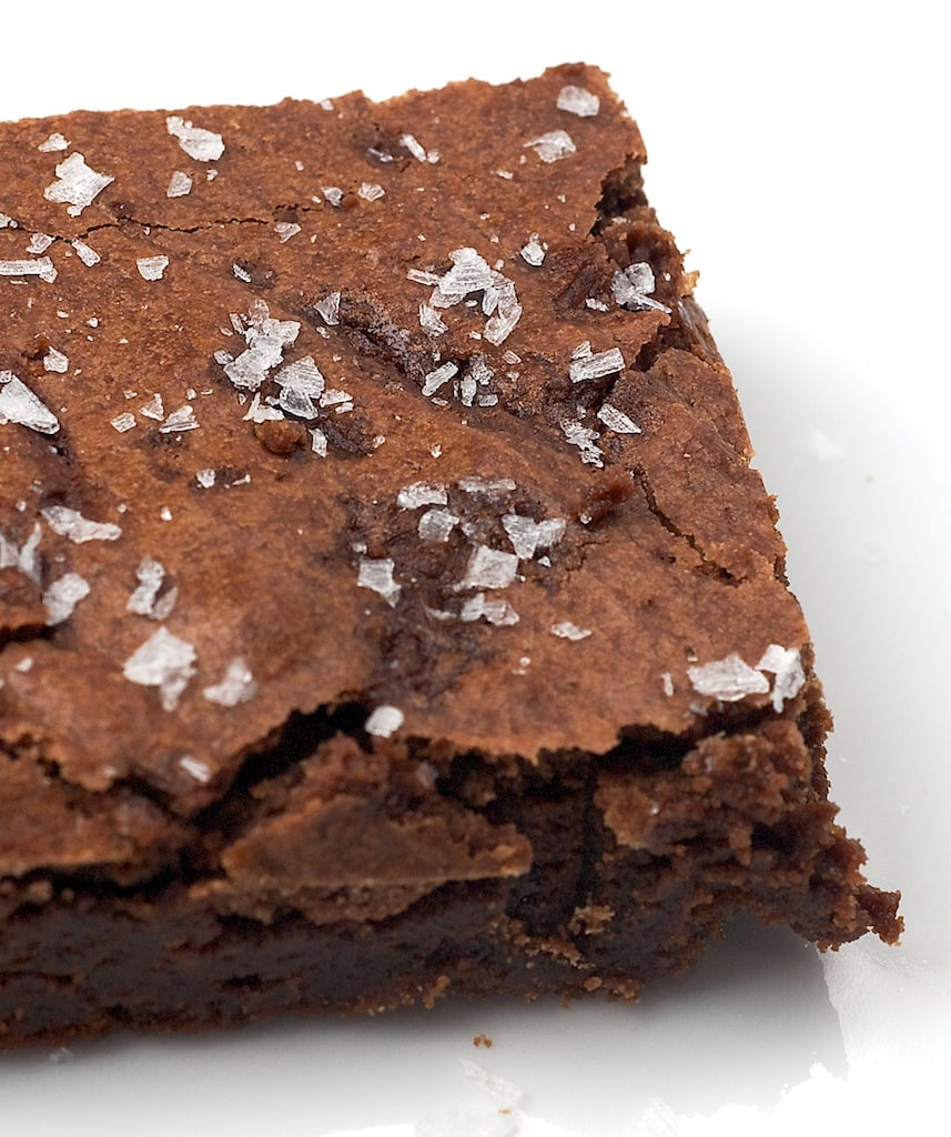 These rich, dark chocolate Salted Fudge Brownies get a little extra flavor interest from a sprinkling of coarse salt. A perfect sweet and salty treat! - Bake or Break