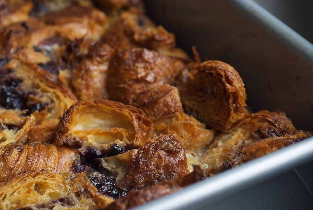 Blueberry Croissant Bread Pudding   Bake or Break