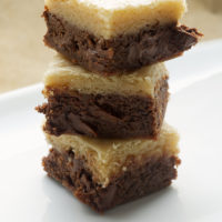 stack of Black Bottom Cookie Bars