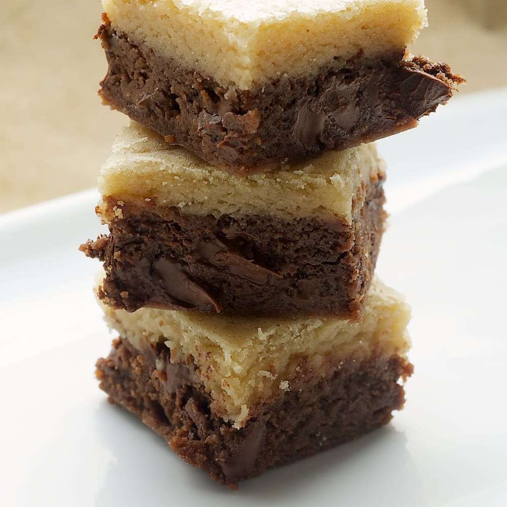Black Bottom Cookie Bars are a wonderfully delicious chocolate-vanilla experience! - Bake or Break