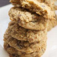 stack of Oatmeal Date Cookies