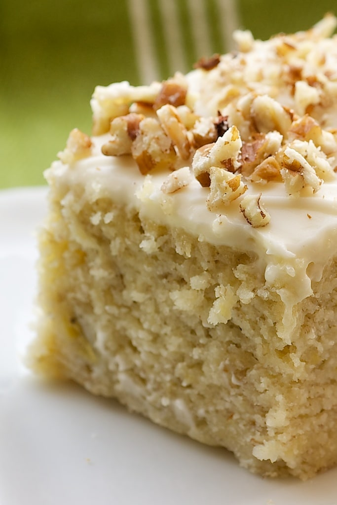 Moist Banana Cake With Cream Cheese Icing