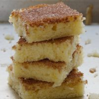 stack of Cinnamon Sugar Cookie Squares