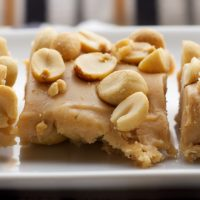 Salted Nut Squares on a white plate