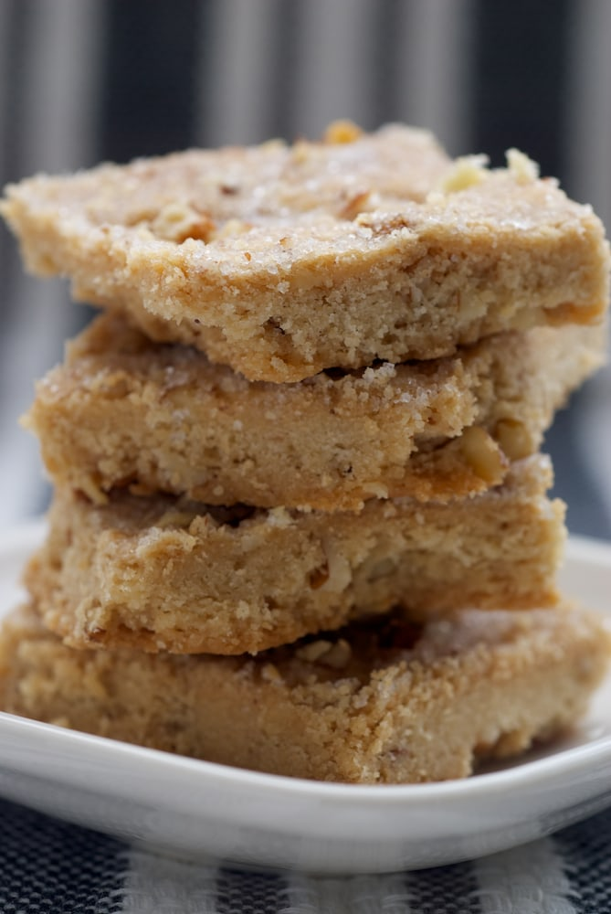 Butter Pecan Shortbread are deliciously sweet and nutty! - Bake or Break