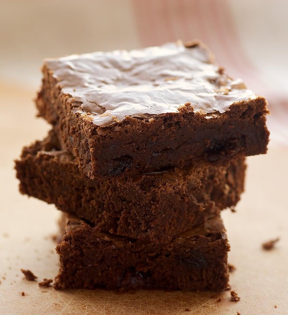 Dark Chocolate-Sour Cherry Brownies combine rich chocolate with tart cherries for an irresistible brownie. - Bake or Break