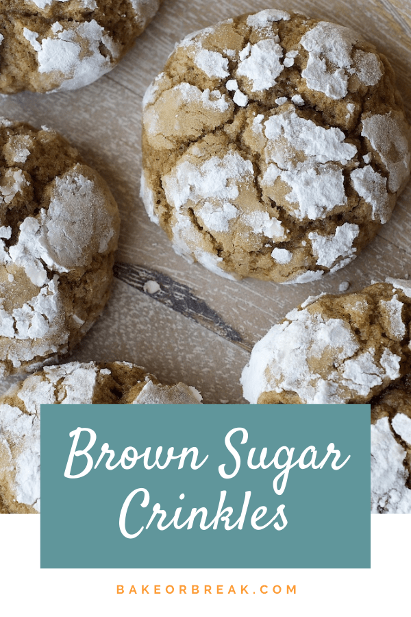 Brown Sugar Crinkles are simple cookies with big flavor. Perfect for sharing! - Bake or Break #cookies #crinklecookies
