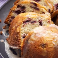 slices of Cherry Vanilla Yogurt Cake