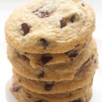 Browned Butter Salted Chocolate Chip Cookies are deliciously sweet and salty. A fantastic twist on traditional chocolate chip cookies! - Bake or Break