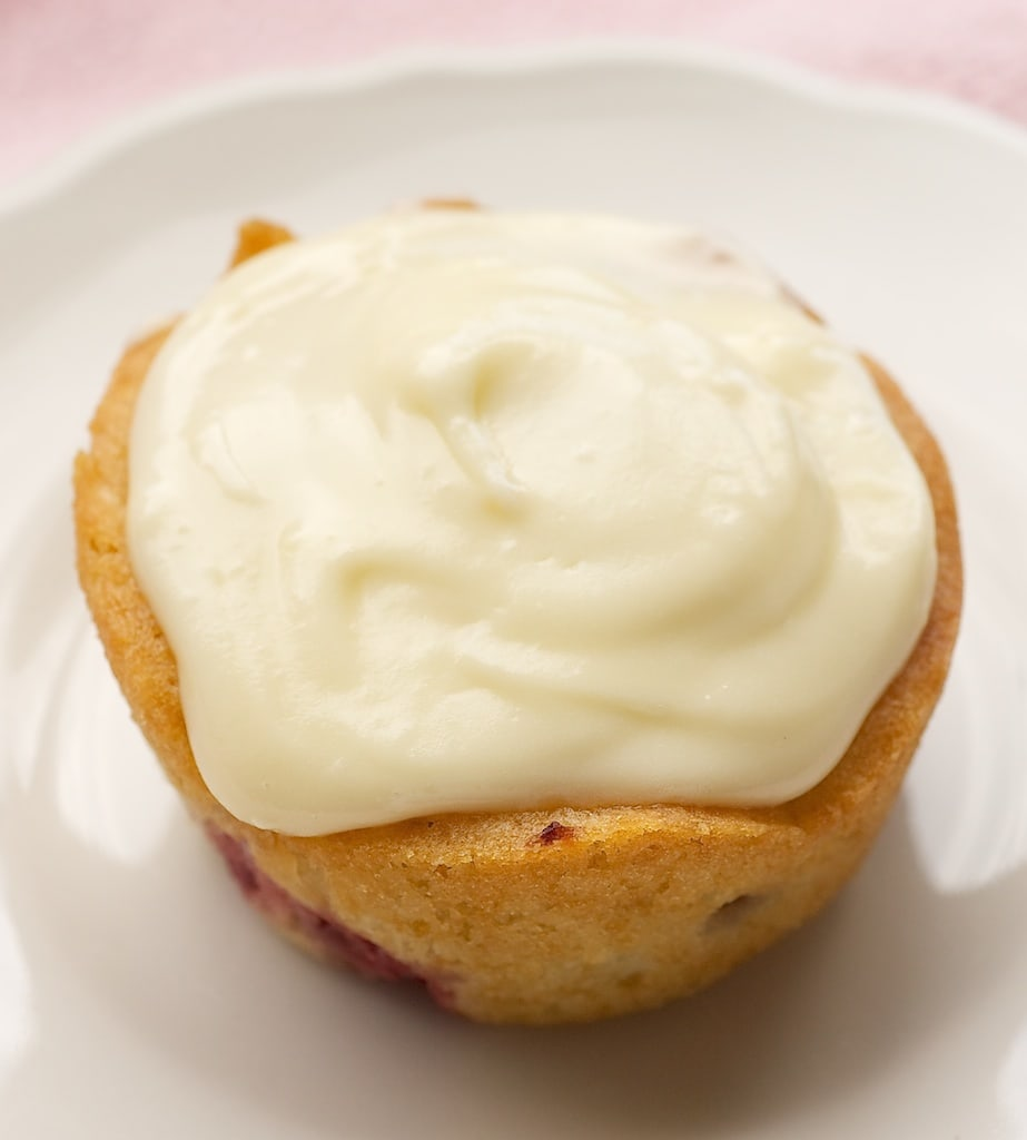 Strawberry Cupcake with White Chocolate Frosting