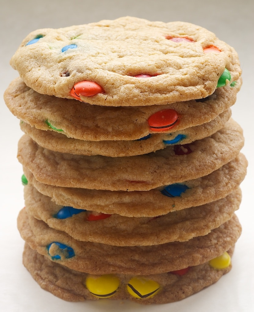 Big Chewy M&M Cookies are so soft, chewy, delicious, and irresistible! - Bake or Break