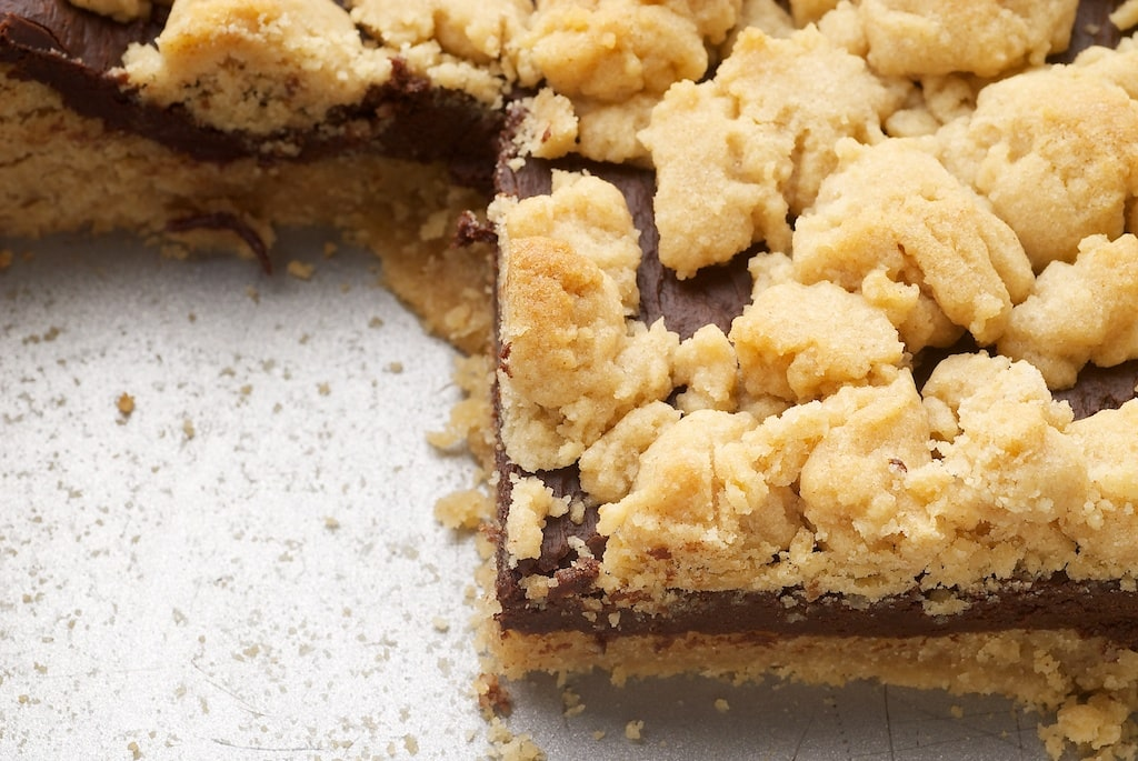 Peanut Butter Chocolate Bars combine that favorite flavor combination in a delicious crumb bar!