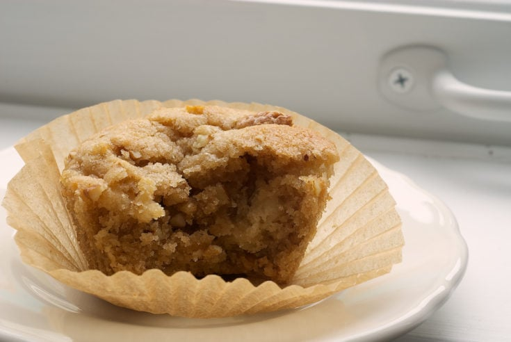 Pear and Pecan Muffins celebrate fall mornings with fresh bears, crunchy pecans, and cinnamon. - Bake or Break