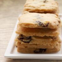 Cranberry Shortbread are simple, delicious cookies made with just a handful of ingredients.