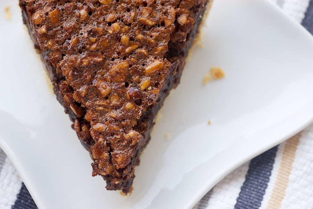 Rich chocolate and crunchy hazelnuts are a perfect pair in this Chocolate Hazelnut Pie.