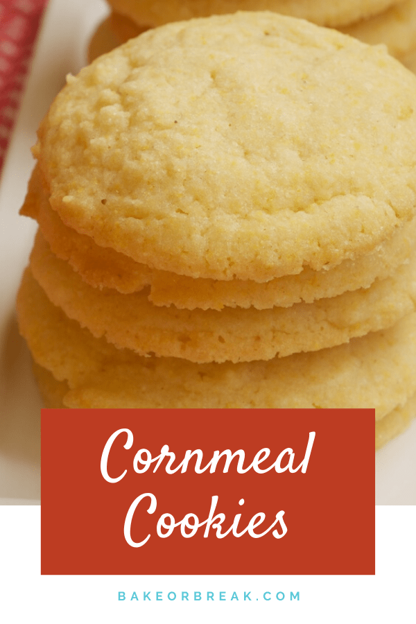 Cornmeal Cookies are subtly sweet, simple to make, and wonderfully delicious. - Bake or Break #cookies