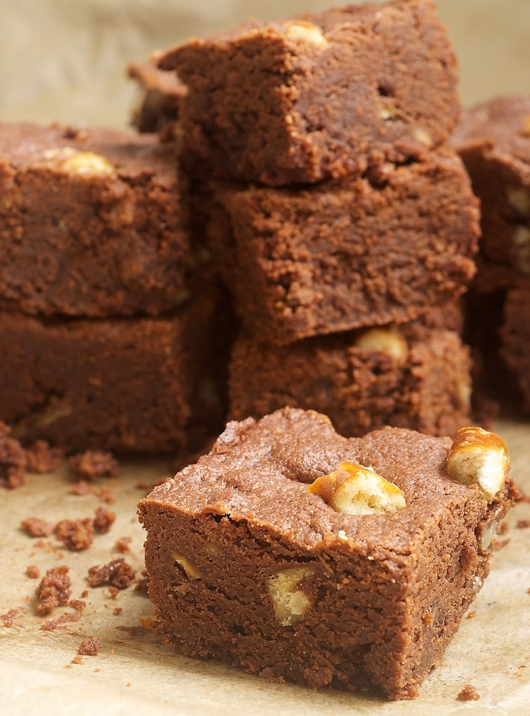Peanut Butter-Pretzel Brownies add a salty, crunchy twist to brownies with plenty of peanut butter and chopped pretzels.