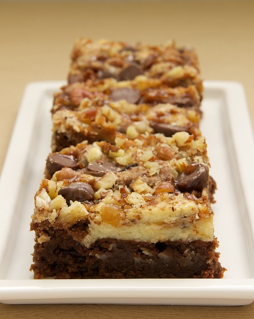 Cream Cheese Brownies With Toffee And Pecans Bake Or Break