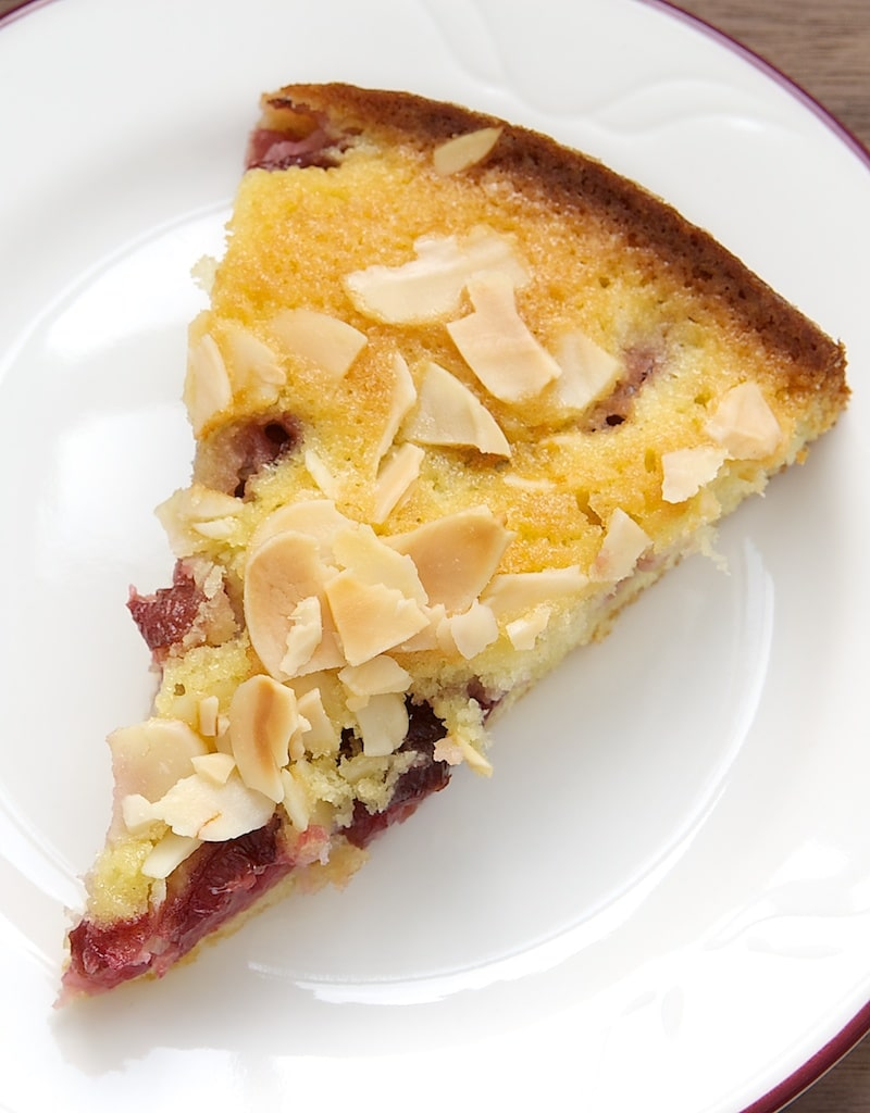 Almond Cherry Cake is a simple, sweet cake featuring one of the very best flavor combinations - cherries and almonds! - Bake or Break