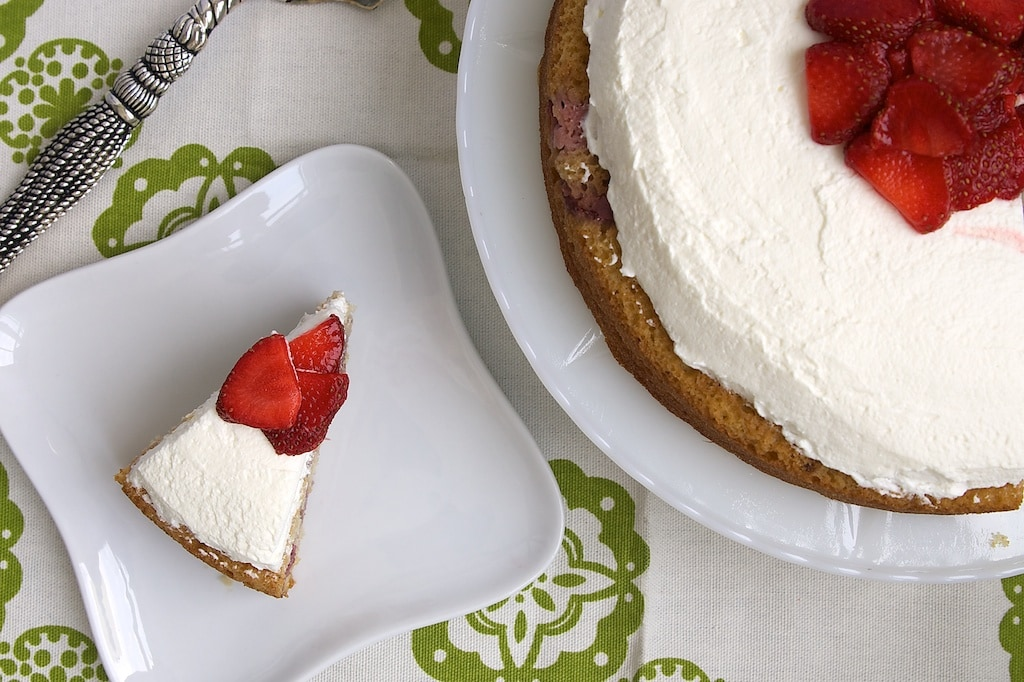 Lemon-Strawberry Shortcake is a simple, delicious cake with plenty of fresh strawberries and a splash of lemon. - Bake or Break