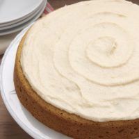 Vanilla Bean Cake with Browned Butter Icing