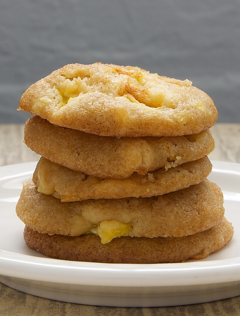 stack of Peach Drop Cookies