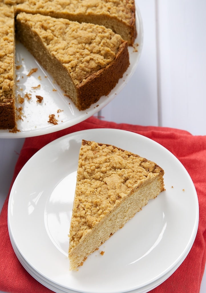 Brown Butter Sour Cream Coffee Cake is an absolutely lovely cake. I just love that crumb topping! - Bake or Break