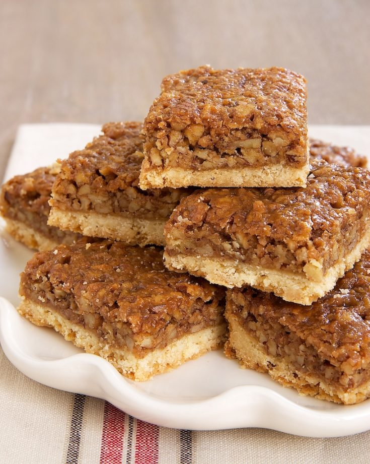 Caramel Pecan Bars are a delicious twist on pecan pie bars. No corn syrup!