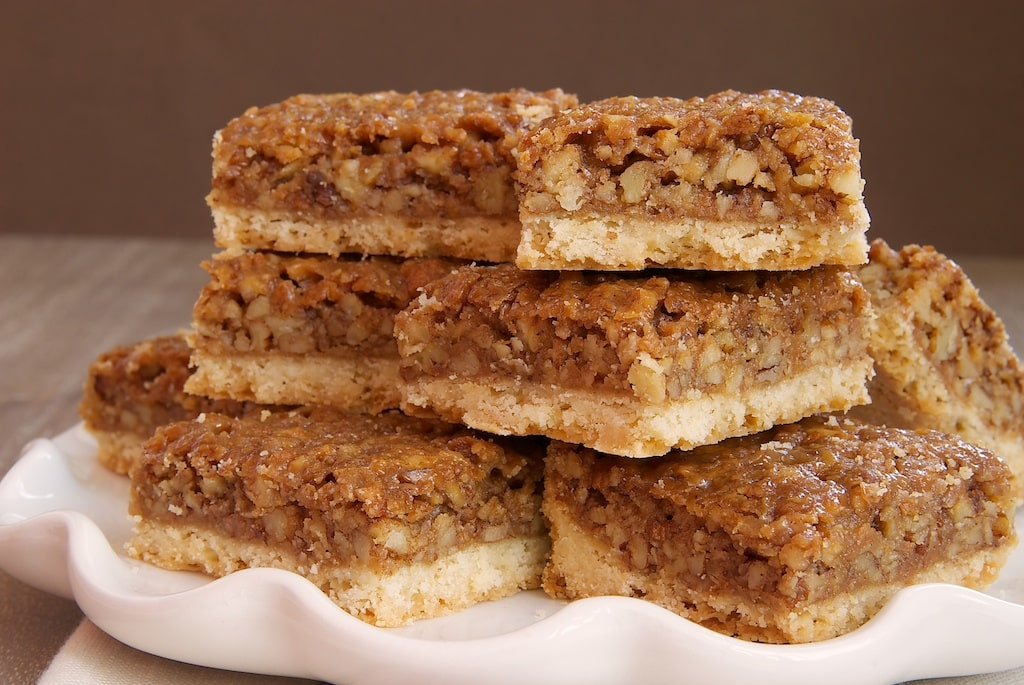 Caramel Pecan Bars are subtly sweet and completely delicious! - Bake or Break