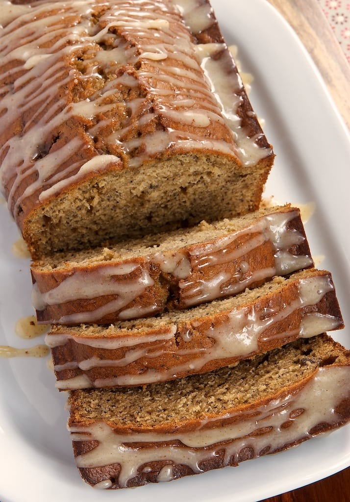 Caramelized Banana Bread with Brown Butter Glaze is a delicious quick bread full of big flavor! - Bake or Break
