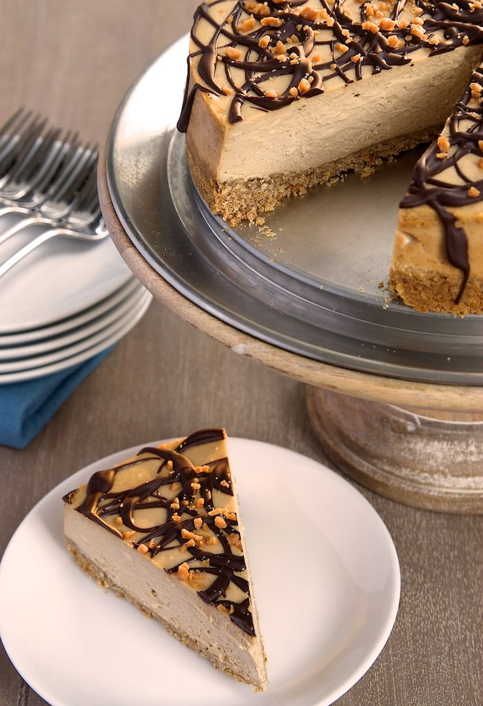 Sweet and salty fans won't want to miss this Peanut Butter Cheesecake with Pretzel Crust. - Bake or Break