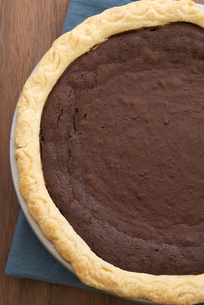 Hot Fudge Pie is tall, dark, delicious, and all about the chocolate! - Bake or Break