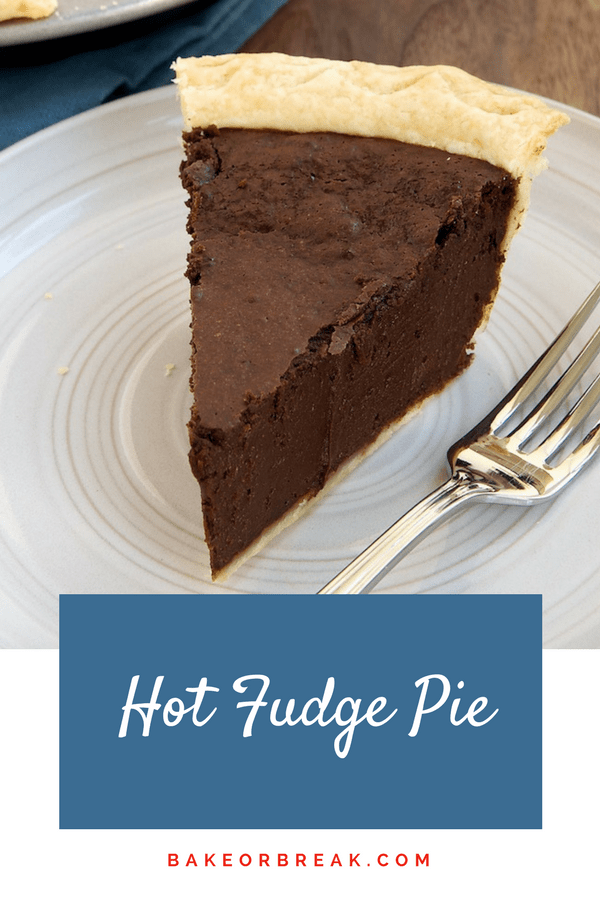 Hot Fudge Pie is tall, dark, delicious, and all about the chocolate! A surprisingly simple pie to make, this is one to remember when you need a great dessert without the fuss. - Bake or Break #pie #chocolate