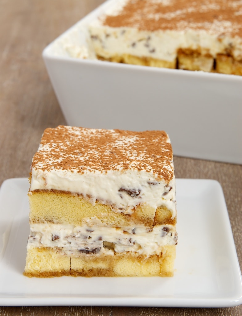 serving of Chocolate Chip Tiramisu