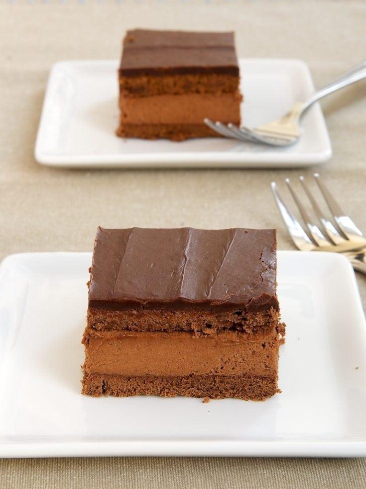 Chocolate cake, chocolate whipped cream, and even more chocolate make this Chocolate Cream Cake absolutely irresistible!