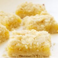 Lemon Almond Crumb Bars are far from ordinary with a crumb topping, almonds, and a hint of ginger. - Bake or Break